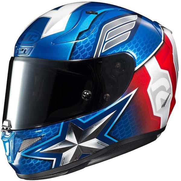 Casque moto marvel